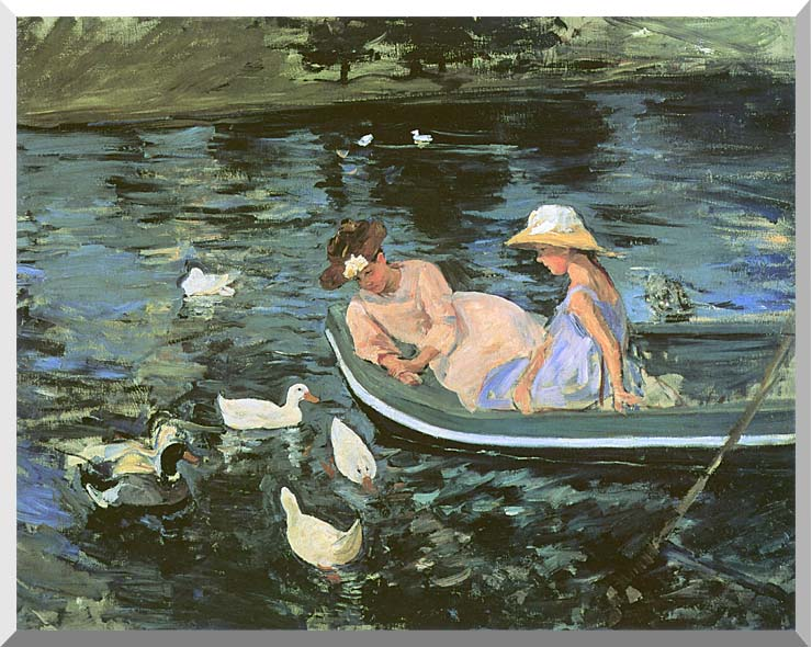 Mary Cassatt Summertime stretched canvas art print