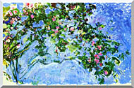 Claude Monet The Roses stretched canvas art