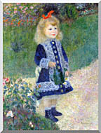 Pierre Auguste Renoir A Girl With A Watering Can stretched canvas art