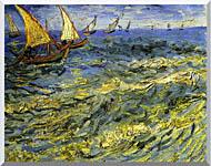 Vincent Van Gogh Seascape At Saintes Maries stretched canvas art
