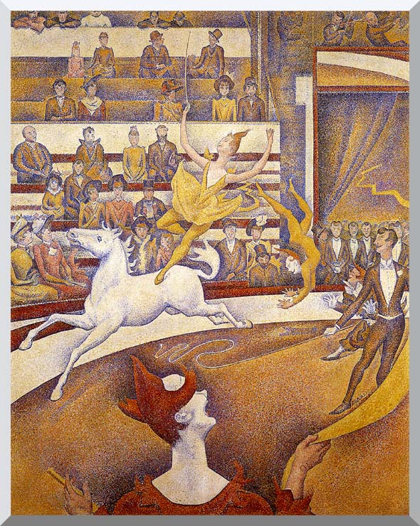 Georges Seurat The Circus stretched canvas art print