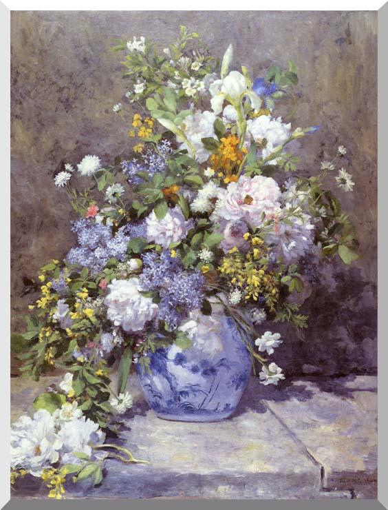 Pierre Auguste Renoir Spring Bouquet stretched canvas art print