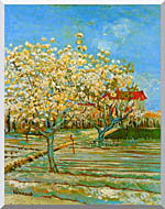 Vincent Van Gogh Orchard In Blossom stretched canvas art