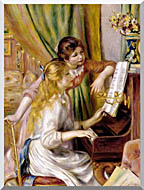 Pierre Auguste Renoir At The Piano stretched canvas art