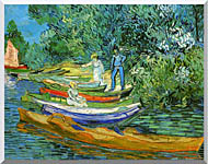 Vincent Van Gogh Bank Of The Oise At Auvers stretched canvas art