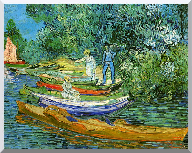 Vincent van Gogh Bank of the Oise at Auvers stretched canvas art print