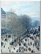 Claude Monet Boulevard Des Capucines stretched canvas art