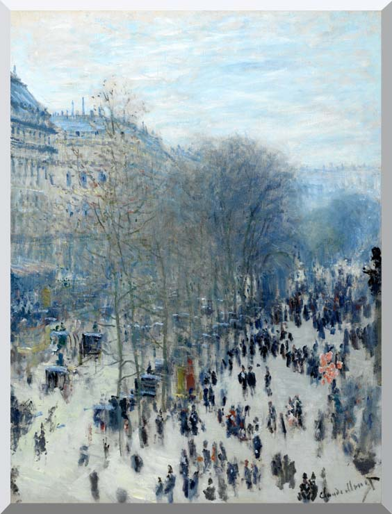 Claude Monet Boulevard des Capucines stretched canvas art print