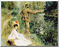 Pierre Auguste Renoir The Angler stretched canvas art
