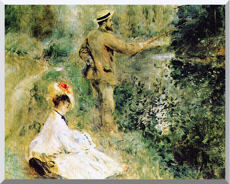 Pierre Auguste Renoir The Angler stretched canvas art print