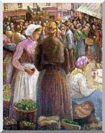 Camille Pissarro Market At Pontoise stretched canvas art