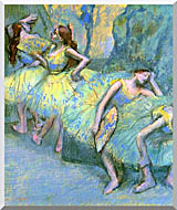 Edgar Degas Ballet Dancers In The Wings stretched canvas art