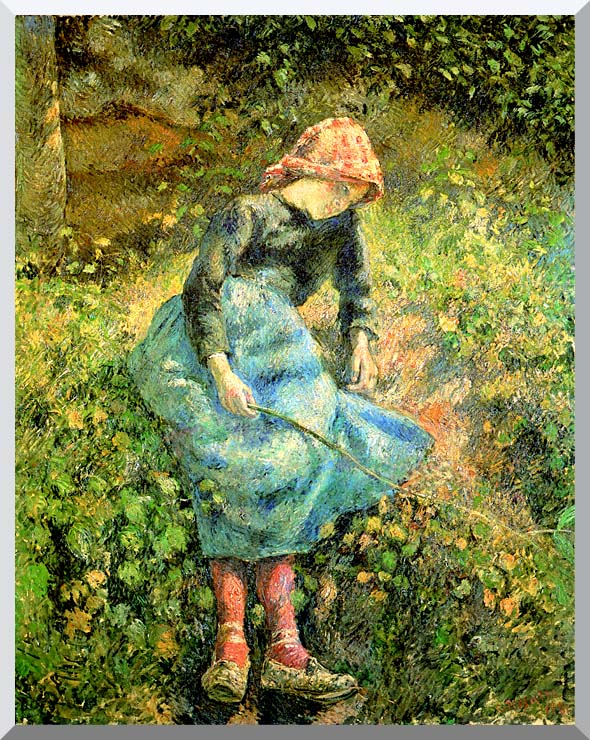 Camille Pissarro The Shepherdess stretched canvas art print
