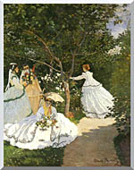 Claude Monet Women In The Garden Stretched Canvas Art