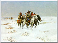 Charles Russell The Snow Trail stretched canvas art