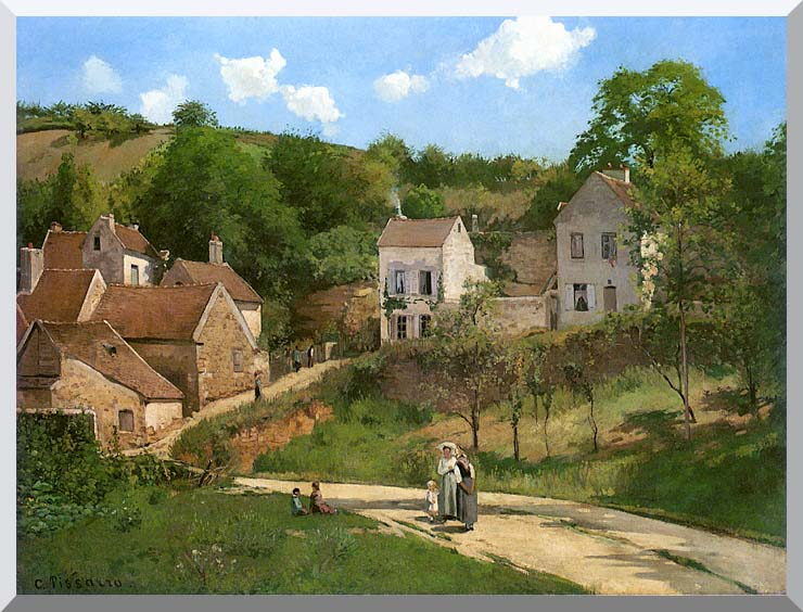 Camille Pissarro The Hermitage at Pontoise stretched canvas art print