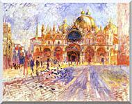 Pierre Auguste Renoir Piazza San Marco Venice stretched canvas art