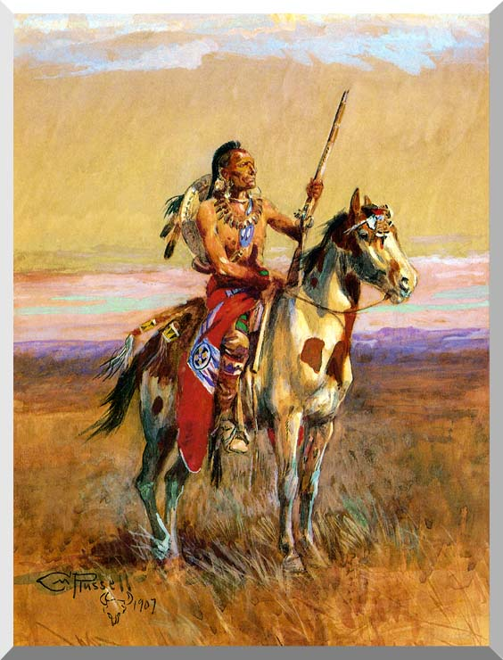 Charles Russell The Scout stretched canvas art print