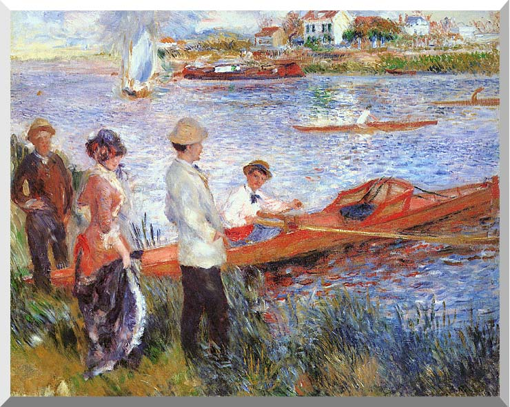 Pierre Auguste Renoir Oarsmen at Chatou stretched canvas art print