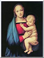 Raphael The Madonna Del Granduca stretched canvas art