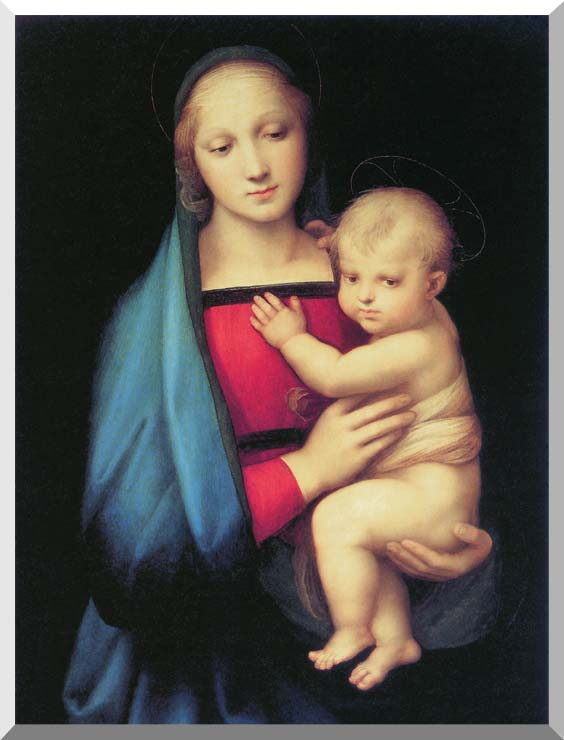 Raphael The Madonna del Granduca stretched canvas art print