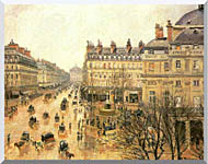 Camille Pissarro Place Du Theatre Francais Rain stretched canvas art