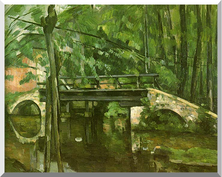 Paul Cezanne The Bridge at Maincy stretched canvas art print
