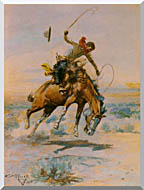 Charles Russell The Bucker stretched canvas art