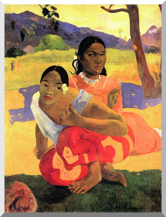 Paul Gauguin When Will You Marry? stretched canvas art print