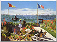 Claude Monet Terrace At Sainte Adresse stretched canvas art