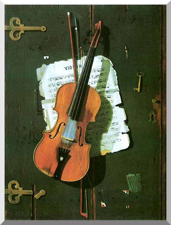 John Frederick Peto The Old Violin stretched canvas art print