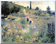 Pierre Auguste Renoir Path Winding Through High Grass stretched canvas art
