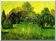 Vincent Van Gogh Public Park With Weeping Willow The Poets Garden I stretched canvas art