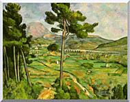 Paul Cezanne Mont Sainte Victoire Seen From Bellevue stretched canvas art