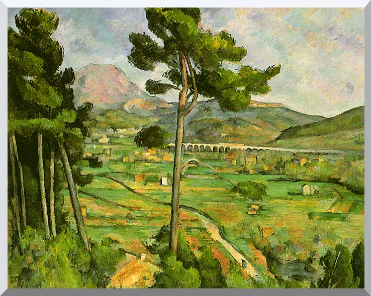 Paul Cezanne Mont Sainte-Victoire seen from Bellevue stretched canvas art print