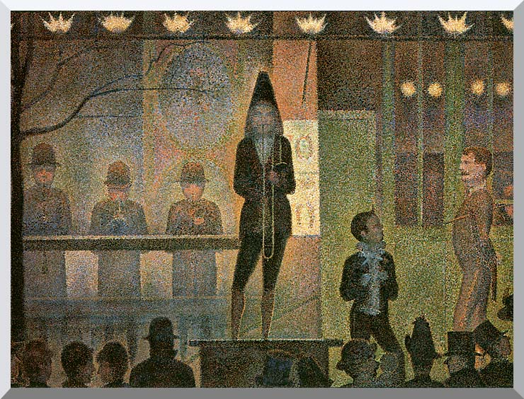 Georges Seurat Invitation to the Sideshow stretched canvas art print