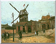 Vincent Van Gogh Le Moulin De La Galette stretched canvas art
