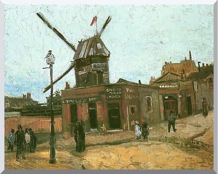 Vincent van Gogh Le Moulin de la Galette stretched canvas art print