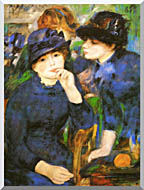 Pierre Auguste Renoir Two Girls stretched canvas art