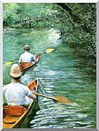 Gustave Caillebotte Canoeing stretched canvas art