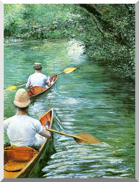 Gustave Caillebotte Canoeing stretched canvas art print