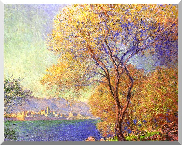 Claude Monet Antibes Seen from La Salis stretched canvas art print