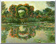 Claude Monet The Flowering Arches Giverny Detail stretched canvas art