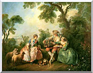Nicolas Lancret The Birdcage stretched canvas art