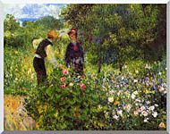 Pierre Auguste Renoir Conversation With The Gardener stretched canvas art