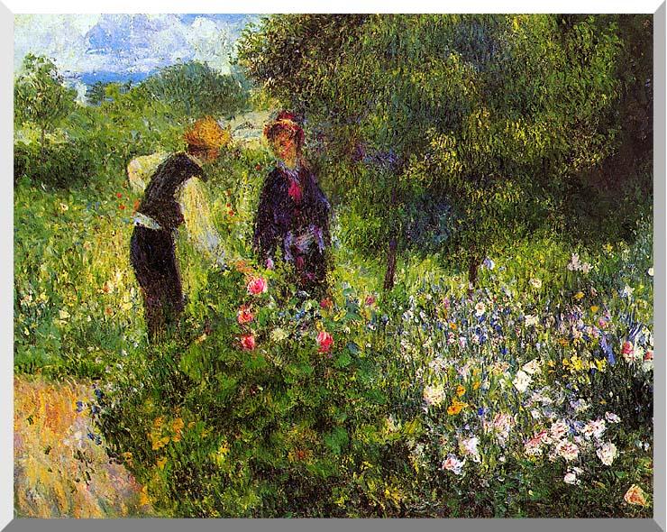 Pierre Auguste Renoir Conversation with the Gardener stretched canvas art print