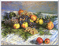 Claude Monet Pears And Grapes stretched canvas art