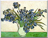 Vincent Van Gogh Still Life Vase With Irises stretched canvas art