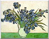Vincent Van Gogh Still Life Vase With Irises stretched canvas art