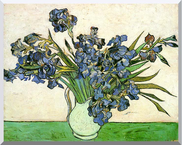 Vincent van Gogh Still Life: Vase with Irises stretched canvas art print